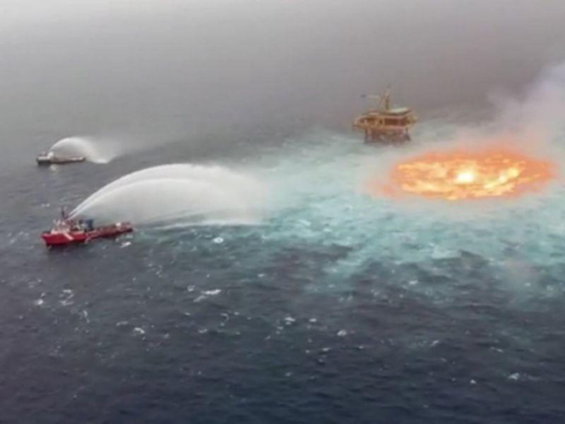 Incendio Golfo Pemex Campeche